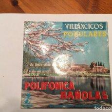 Discos de vinilo: VILLANCICOS NADALES DE LA POLIFONICA DE BAÑOLAS, EN CASTELLANO. Lote 193736915