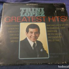 Discos de vinilo: LP AMERICANO ANTIGUO VINILO ACEPTABLE PORTADA ALGO PERJUDICADA TRINI LOPEZ GREATEST HITS EN REPRISE. Lote 193737167
