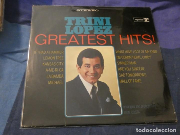 LP BUEN ESTADO TRINI LOPEZ GREATEST HITS EN REPRISE USA DE LA EPOCA (Música - Discos de Vinilo - Maxi Singles - Cantautores Extranjeros)