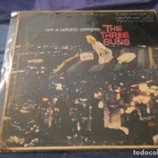 Discos de vinilo: LP AMERICANO AÑOS 50 THE THREE SUNS LEVES SEÑALES DE USO EN VINILO ADHESIVOS EN CONTRAPORTADA. Lote 193737656