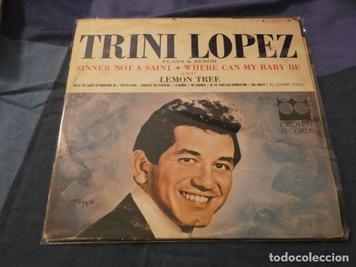 LP USA AÑOS 60 TRINI LOPEZ PLAYS AND SIGHS CROWN RECORDS ESTADO BASTANTE ACEPTABLE (Música - Discos de Vinilo - Maxi Singles - Cantautores Internacionales)