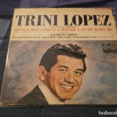 Discos de vinilo: LP USA AÑOS 60 TRINI LOPEZ PLAYS AND SIGHS CROWN RECORDS ESTADO BASTANTE ACEPTABLE. Lote 193737826