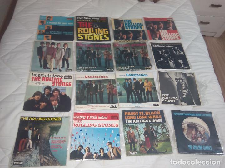 THE ROLLING STONES LOTE 14 EP + 9 SINGLE 45 RPM DECCA FRANCE FRANCIA (Música - Discos de Vinilo - EPs - Pop - Rock Internacional de los 50 y 60)