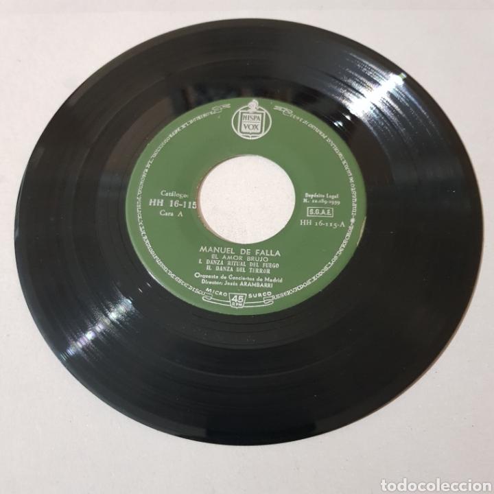 Discos de vinilo: MANUEL DE FALLA - EL AMOR BRUJO - EL SOMBRERO DE TRES PICOS - Foto 3 - 193740113