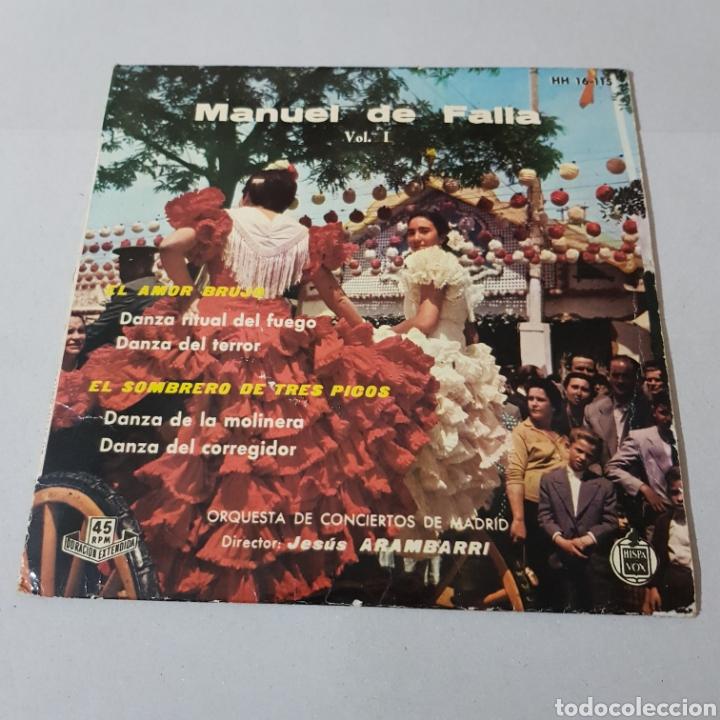 MANUEL DE FALLA - EL AMOR BRUJO - EL SOMBRERO DE TRES PICOS (Música - Discos - Singles Vinilo - Clásica, Ópera, Zarzuela y Marchas)