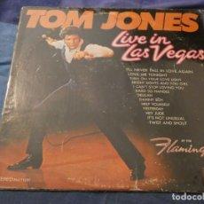 Discos de vinilo: LP AMERICANO ANTIGUO TOM JONES LIVE IN LAS VEGAS USA 60S BUEN ESTADO PARA SU EDAD . Lote 193740456