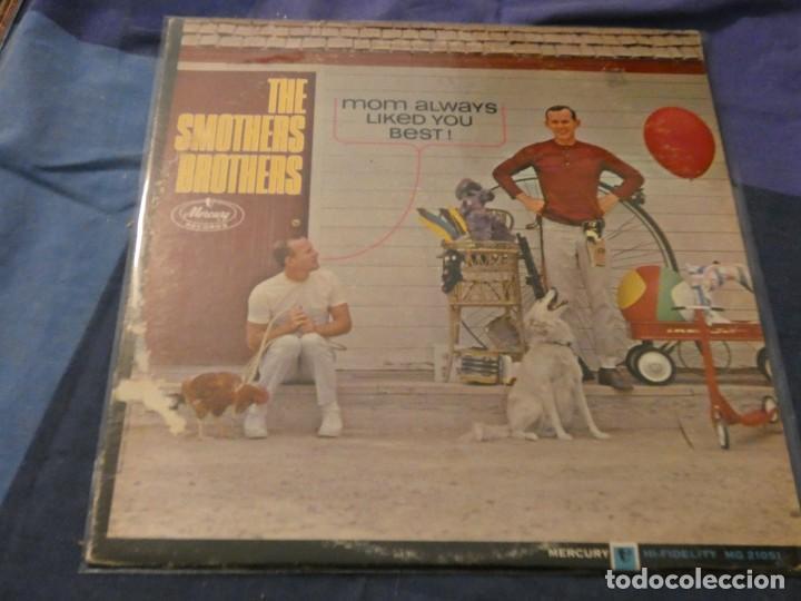 LP AMERICANO ANTIGUO SMOTHERS BROTHERS MOM ALWAYS LIKED YOU BEST PORTADA VER FOTO VINILO BIEN (Música - Discos de Vinilo - Maxi Singles - Cantautores Internacionales)