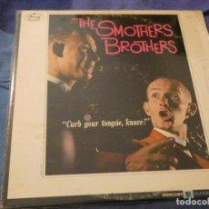 Discos de vinilo: SMOTHERS BROTHERS CURB YOUR TONGUE KNAVE LP AMERICANO ANTIGUO MUY CORRECTO PARA SU EDAD . Lote 193740793