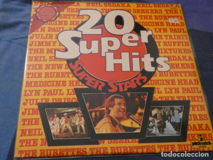LP 20 SUPERHITS SUPER STARS RUBETTES SEDAKA MEDICINE HEAD.... BUEN ESTADO (Música - Discos de Vinilo - Maxi Singles - Cantautores Extranjeros)