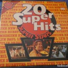 Discos de vinilo: LP 20 SUPERHITS SUPER STARS RUBETTES SEDAKA MEDICINE HEAD.... BUEN ESTADO . Lote 193741010