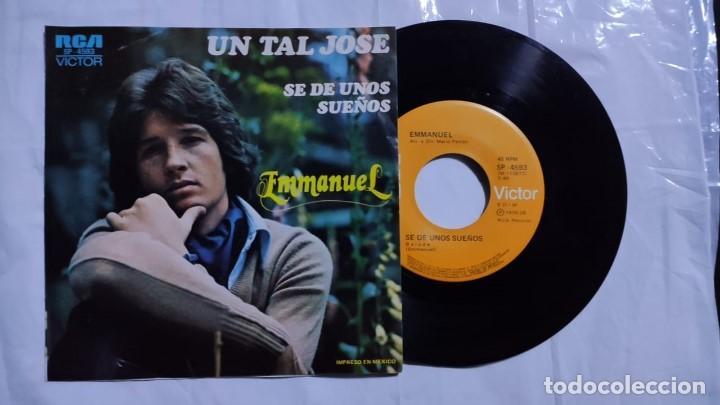 EMMANUEL - UN TAL JOSE / SE DE UNOS SUEÑOS DEL AÑO 1978 MÉXICO (RARO) (Música - Discos - Singles Vinilo - Grupos y Solistas de latinoamérica)