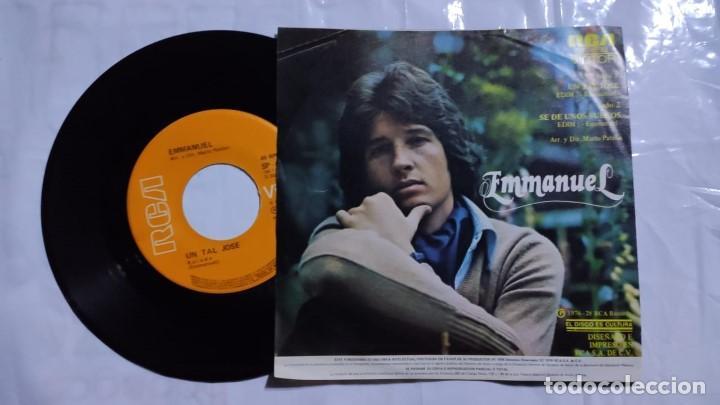 Discos de vinilo: Emmanuel - Un Tal Jose / Se De Unos Sueños del año 1978 México (raro) - Foto 2 - 193743537
