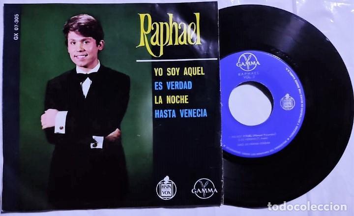 RAPHAEL - YO SOY AQUEL / ES VERDAD / LA NOCHE / HASTA VENECIA 1966 MÉXICO (MUY RARO) (Música - Discos de Vinilo - EPs - Solistas Españoles de los 70 a la actualidad)