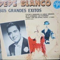 Discos de vinilo: PEPE BLANCO SUS GRANDES ÉXITOS - 2 DISCOS - EMI ODEÓN - ESPAÑA - 1982. Lote 193750136
