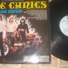 Discos de vinilo: THE CYNICS - BLUE TRAIN STATION + ENCARTE (GET HIPRECORDS 1987)-OG USA GARAGE PUNK SEGUNDA MANO. Lote 193753455