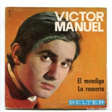 Discos de vinilo: VICTOR MANUEL. SINGLE.. Lote 193756145