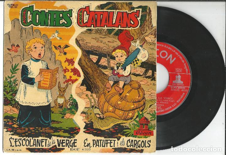 DISCO CONTES CATALANS, L'ESCOLANET DE LA VERGE - EN PATUFET I ELS CARGOLS, 1958 (Música - Discos - Singles Vinilo - Música Infantil)
