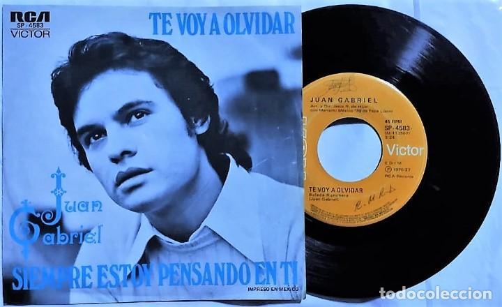 JUAN GABRIEL - TE VOY A OLVIDAR / SIEMPRE ESTOY PENSANDO EN TI MÉXICO 1976 (RARO) (Música - Discos - Singles Vinilo - Grupos y Solistas de latinoamérica)