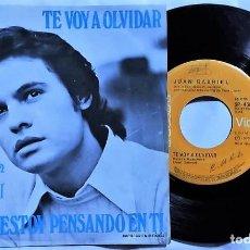 Discos de vinilo: JUAN GABRIEL - TE VOY A OLVIDAR / SIEMPRE ESTOY PENSANDO EN TI MÉXICO 1976 (RARO). Lote 193759676