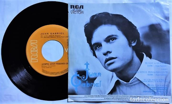 Discos de vinilo: Juan Gabriel - Te Voy A Olvidar / Siempre Estoy Pensando En Ti México 1976 (raro) - Foto 2 - 193759676
