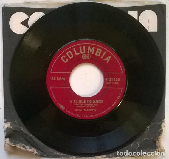 Discos de vinilo: Rose Maddox. These wasted years/ I'm a littlle red caboose. columbia 4-21155, USA 1953 single - Foto 2 - 193763541