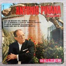Discos de vinilo: ANTONIO PIÑANA PADRE - 1968 - CANTE DE LAS MINAS . Lote 193764491