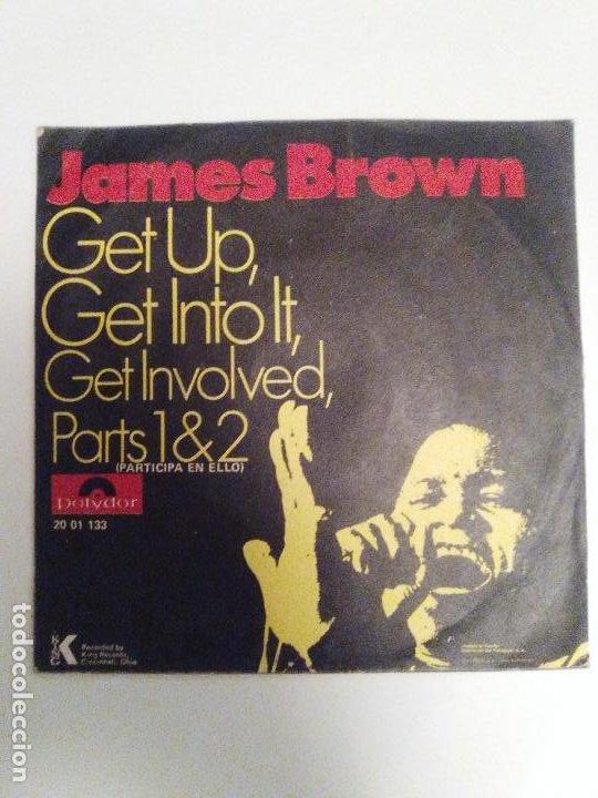 Discos de vinilo: JAMES BROWN Get up Get into it Get involved Parts 1 & 2 ( 1971 POLYDOR ESPAÑA ) - Foto 2 - 193765226