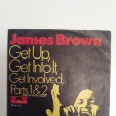 Discos de vinilo: JAMES BROWN GET UP GET INTO IT GET INVOLVED PARTS 1 & 2 ( 1971 POLYDOR ESPAÑA ). Lote 193765226