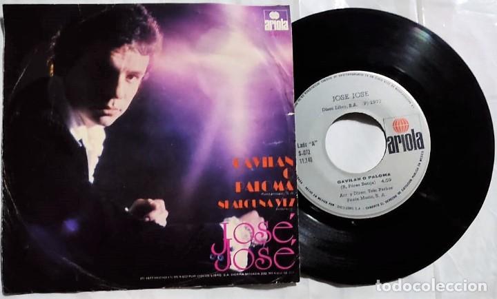 JOSÉ JOSÉ - GAVILAN O PALOMA / SI ALGUNA VEZ DEL AÑO 1977 MÉXICO (Música - Discos - Singles Vinilo - Grupos y Solistas de latinoamérica)
