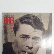 Discos de vinilo: JACQUES BREL LE PLAT PAYS CASSE POMPON LES BICHES ( 1968 BARCLAY FRANCE ). Lote 193767138