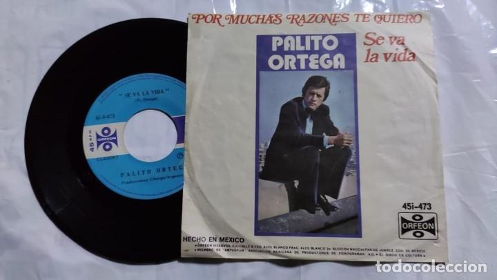 Discos de vinilo: Palito Ortega - Por Muchas Razones / Se Va La Vida del año 1978 México - Foto 2 - 193768915