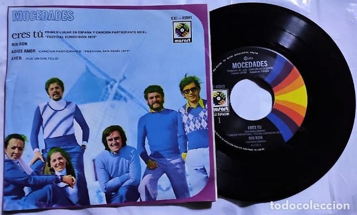 MOCEDADES - ERES TÚ - RIN RON - ADIOS AMOR - AYER DEL AÑO 1973 MÉXICO (MUY RARO) (Música - Discos - Singles Vinilo - Grupos y Solistas de latinoamérica)
