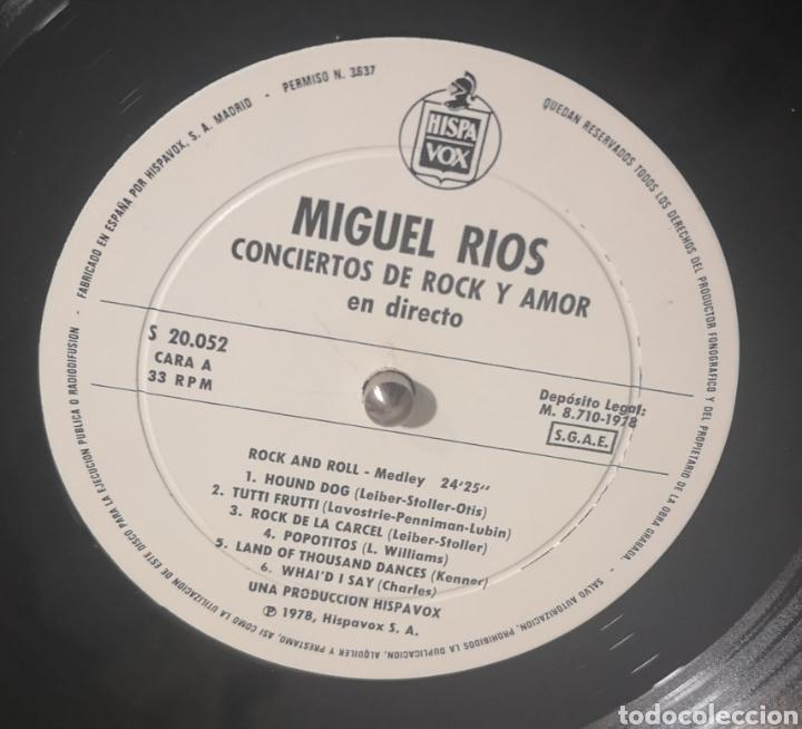 Discos de vinilo: MIGUEL RIOS - CONCIERTOS DE ROCK Y AMOR - Foto 2 - 193774873