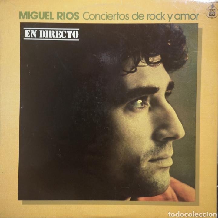 MIGUEL RIOS - CONCIERTOS DE ROCK Y AMOR (Música - Discos - LP Vinilo - Grupos Españoles de los 70 y 80)