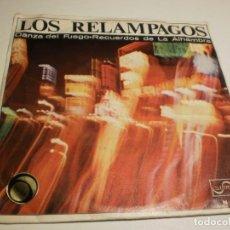 Discos de vinilo: SINGLE LOS RELÁMPAGOS. DANZA DE FUEGO. RECUERDOS DE LA ALHAMBRA. ZAFIRO 1966 SPAIN (PROBADO Y BIEN). Lote 193777876