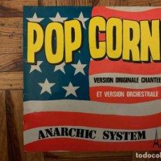 Discos de vinilo: ANARCHIC SYSTEM – POP CORN SELLO: DISC'AZ – AZ 10.796, SÉRIE GÉMEAUX – SG 397 FORMATO: VINYL, 7 . Lote 193780180