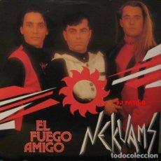 Discos de vinilo: NEKUAMS: EL FUEGO AMIGO - MAXI-SINGLE, BOY RECORDS 1991. Lote 193782206