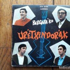 Discos de vinilo: BERGARAKO URRETXINDORRAK - AURRESKU + AITA BARIK. Lote 193787961