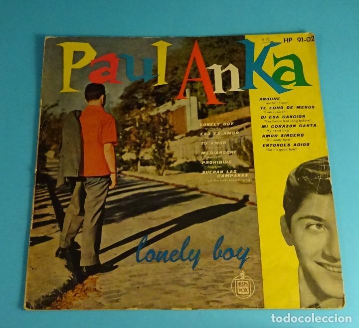 PAUL ANKA. LONELY BOY. HISPAVOX (Música - Discos - LP Vinilo - Pop - Rock Internacional de los 50 y 60)