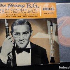 Discos de vinilo: BENNY GOODMAN, THE YOUNG B.G. FAREWELL BLUES +3 WITH JOE VENNUTI, EDDIE LANG ALL STARS. Lote 193806300
