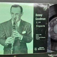 Discos de vinilo: BENNY GOODMAN Y SU ORQUESTA, LOVE WALKED IN , RAMONA, SOFT AS SPRING , TANGERINA. Lote 193806638