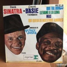 Discos de vinilo: FRANK SINATRA - COUNT BASIE Y SU ORQUESTA - QUE TAL DOLLY? (7, EP) (D:NM/C:NM). Lote 193816877