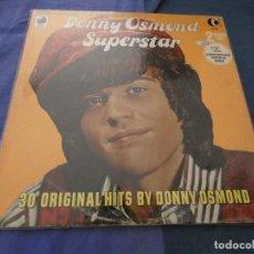 Discos de vinilo: DOBLE LP DONNY OSMOND SUPERSTAR 1973 LEVES SEÑALES DE USO MUY CORRECTO 1973. Lote 193820003