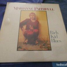 Discos de vinilo: LP UK MUY BUEN ESTADO MARIANNE FAITHFUL RICH KID BLUES . Lote 193820491