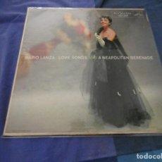 Disques de vinyle: LP AMERICANO MARIO LANZA LOVE SONGS AND A NEAPOLITAN SERENADA LEVES SEÑALES USO VINILO DECENTE AUN. Lote 193822030