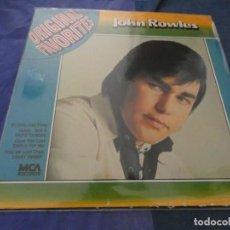 Discos de vinilo: LP MCA JOHN ROWLES ORIGINAL FAVORITES MUY BUEN ESTADO. Lote 193825360