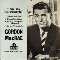 Discos de vinilo: GORDON MACRAE - YOU GO TO MY HEAD + 3 (45 RPM) EDIC. INGLESA DE 1953 - EX+/EX++. Lote 193827342