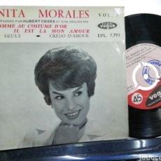 Discos de vinilo: ANITA MORALES EP L'HOMME AU COSTUME D'OR + 3 FRANCIA 1960. Lote 193827816