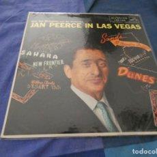 Discos de vinilo: LP JAN PIERCE IN LAS VEGAS AMERICANO RCA DE EPOCA MUY BUEN ESTADO CANTO INFERIOR A REPEGAR. Lote 193827905