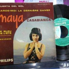 Discos de vinilo: MAYA CASABIANCA EP PUERTA DEL SOL + 3 FRANCIA. Lote 193828360